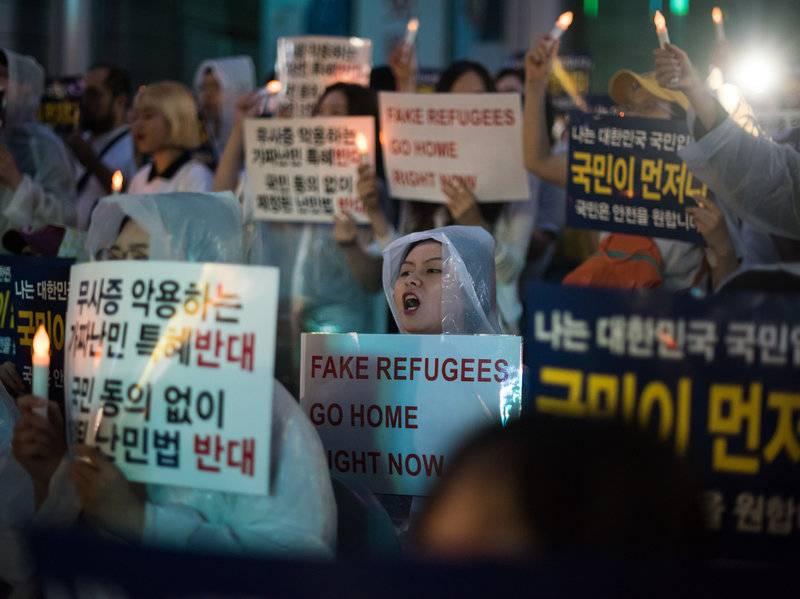 Güney Kore'de Yemenli mülteci krizi