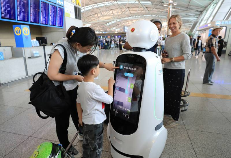 Kore'de sizi robotlar karşılayacak