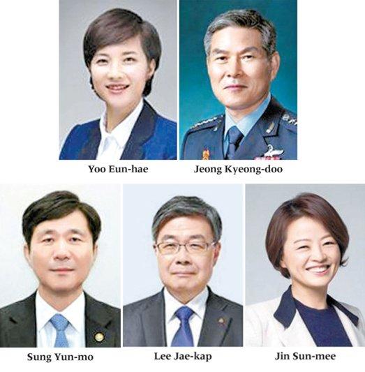 Güney Kore'de bakanlar değişti