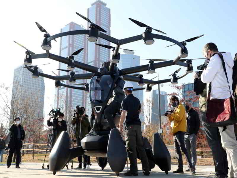 Güney Kore dron taksi