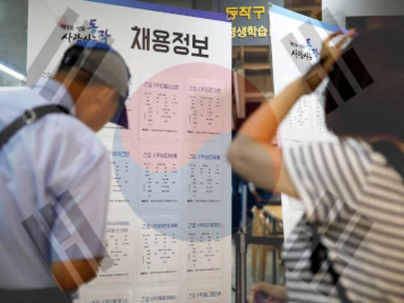 Güney Kkore işsizlik oranları pandemide çok arttı.