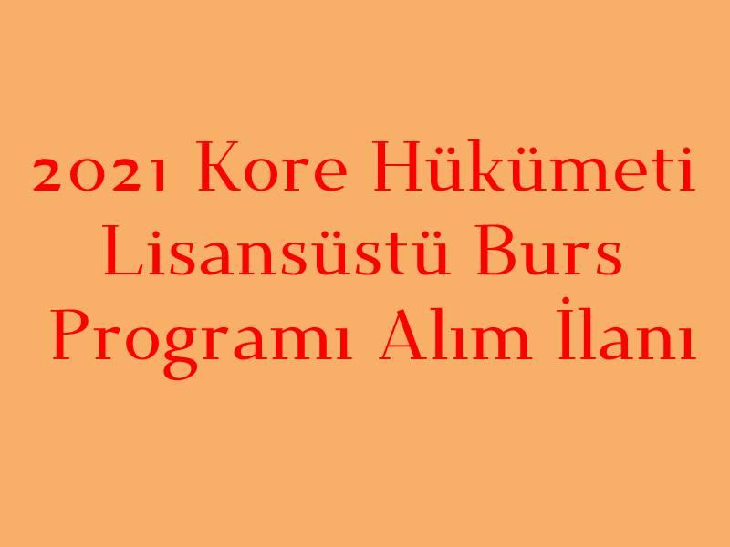 Kore Burs Programı