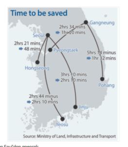 Yüksek hızlı trene geçişle Kore'de ulaşım 1 saat kısalacak
